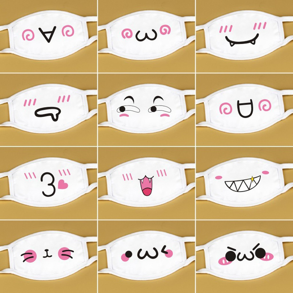 New MaskUnisex Mouth Reuse Masks White Cute Anime Anti Dust Kawaii Muffle Face Mask Mascarillas Home Accessories маска
