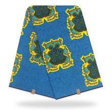 Ankara Real Wax Prints Cotton Fabric Diamond Pattern High Quality African For Party Dress
