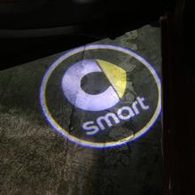 2 sztuk samochodów drzwiowe światło wejściowe dla Smart Fortwo Forfour 453 451 450 Crossblade City Cabrio city-coupe Roadster projektor do Logo lampa tanie tanio 6 7cm 100g Car Welcome Light 6 2cm For Smart Car Logo Light Car Door Light For Smart Fortwo Forfour 453 451 450 Crossblade City Cabrio City-Coupe