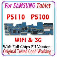 Placa base 100% Original para Samsung Galaxy Tab 2, 10,1 P5100, 3G, P5110, versión europea, Placa base con chips, sistema Android MB
