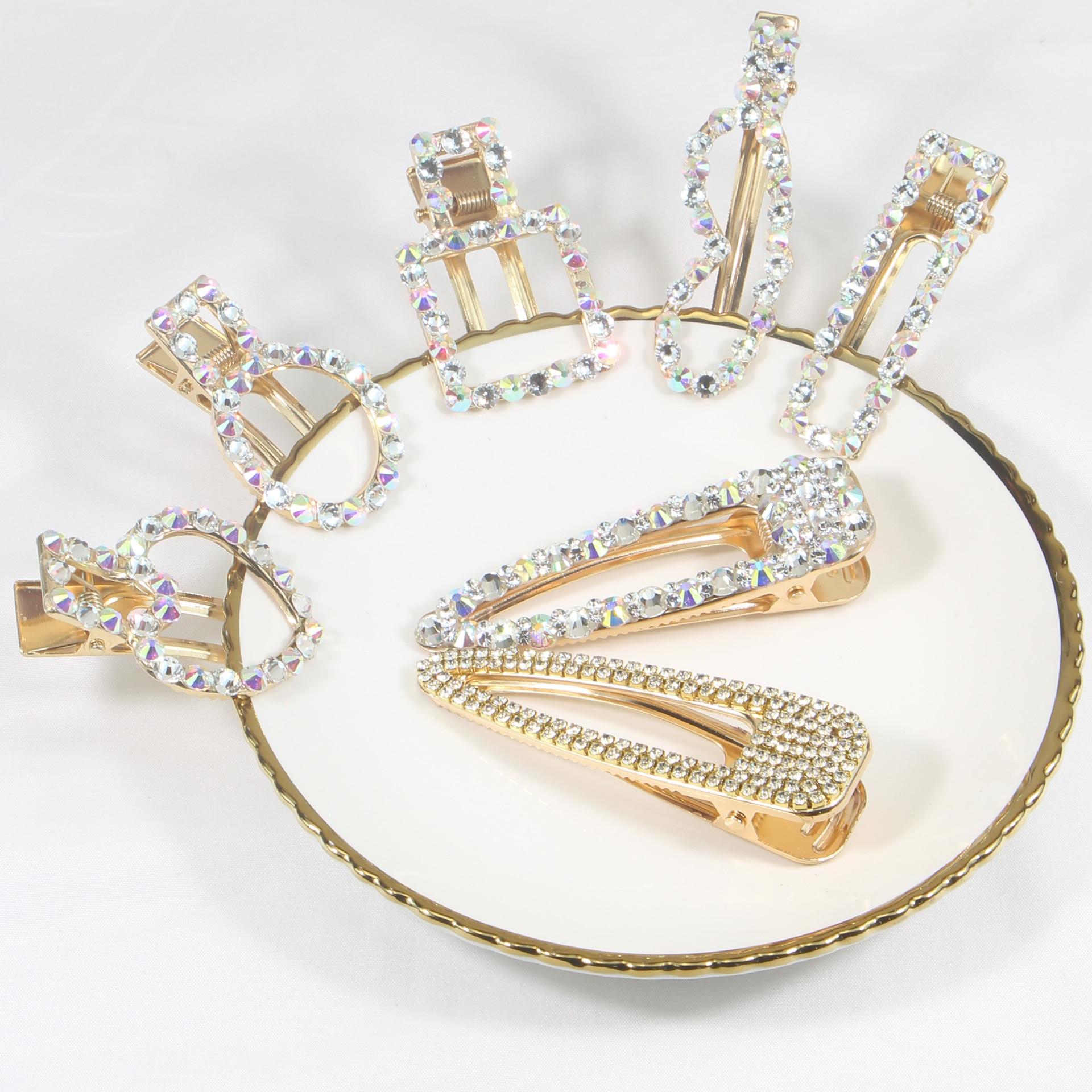 Fashion Luxury Hairpin Women Barrette  Geometric Waterdrop Hair Clip Hairgrip For Women Girls Hair Accessories