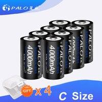 Baterías recargables de corriente de alta capacidad, pila tipo C de 1,2 V, 1,2 mAh, NI-MH, nimh ni mh, 4000 V, 1-8 Uds.