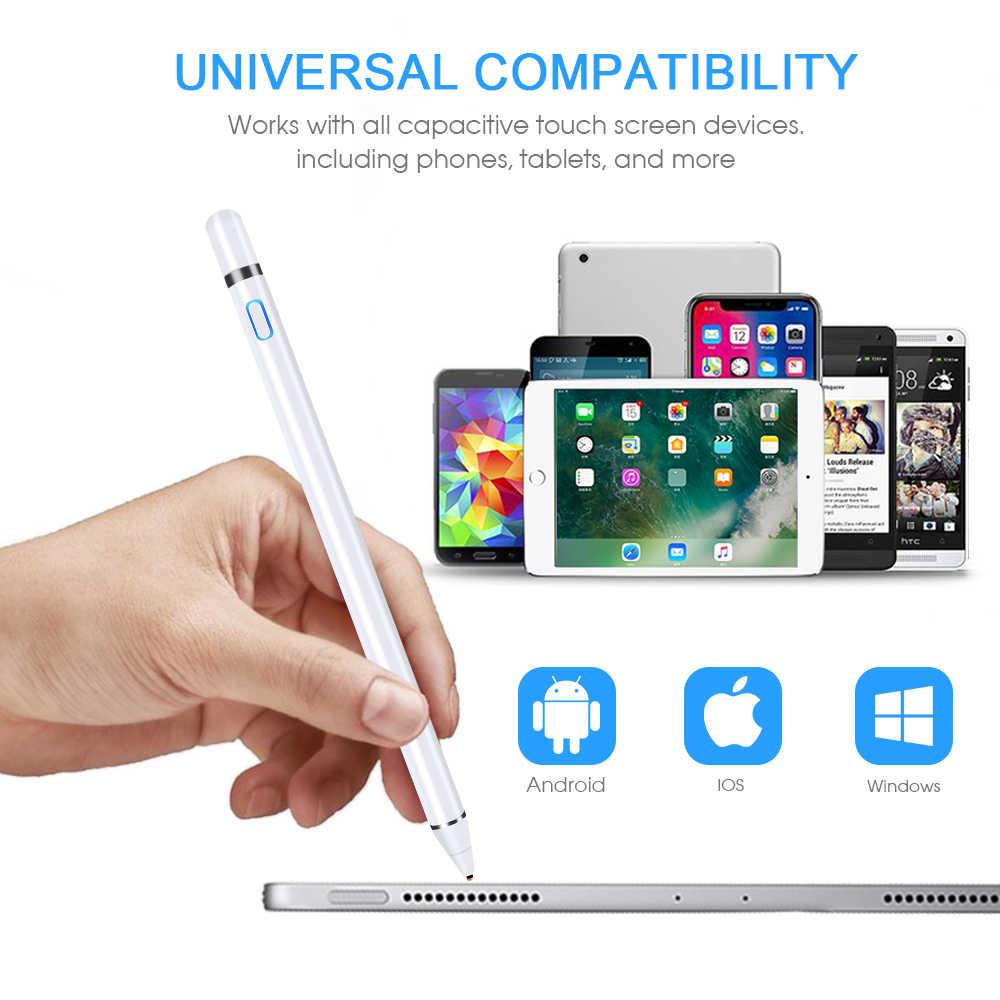 Untuk iPad Pensil Stylus untuk Apple Pen Ipad 2018 2019 Air 2 untuk Apple Pensil 1 2 Layar Sentuh Pen stylus Pen Tablet + Sarung Tangan Pemegang