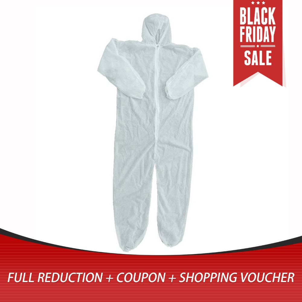 Disposable Coveralls Dust-proof Clothes Man Isolation Clothes White Labour Suit Universal Nonwovens Security Protection Clothing