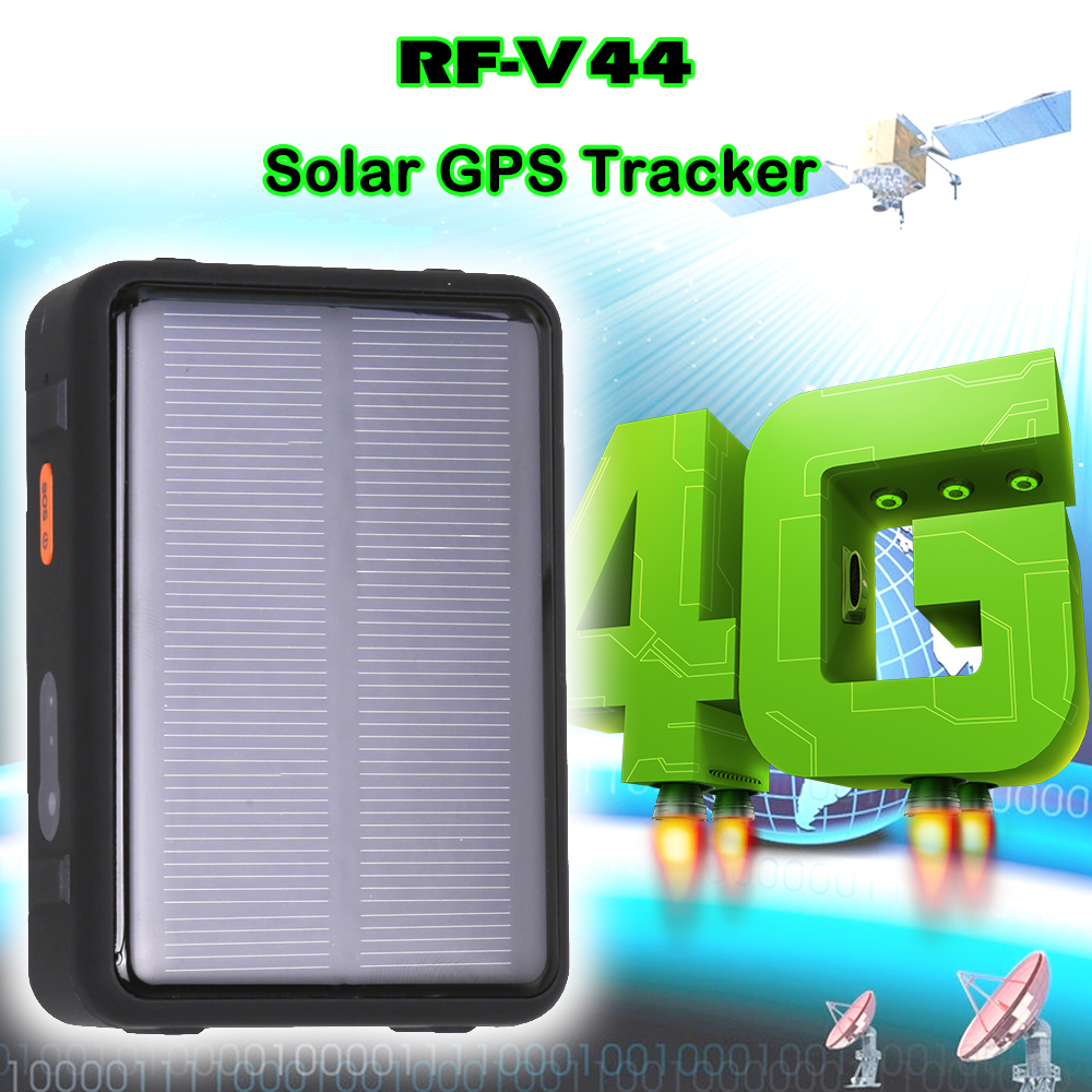 RF-V44 4G LTE GPS Track Device Solar Power Real Time Positioning Cut Off Fuel Remotely Mini GPS GSM Tracker with Option Holder title=