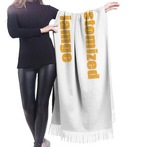 Image 3 - NOISYDESIGNS Customized Women Cashmere Scarves with Tassel Autumn New Soft Warm Lady Girls Wraps Thin Long Scarf Female Shawl