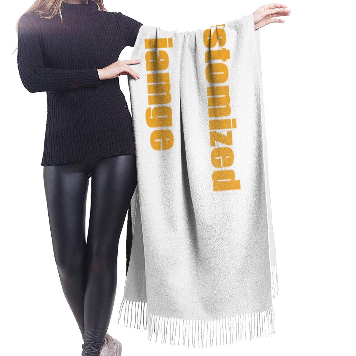 Image 3 - NOISYDESIGNS bufandas de cachemir personalizadas para mujer con borla otoño nuevo suave cálido señora niñas envuelve bufanda larga fina chal femeninoBufandas de mujer   -