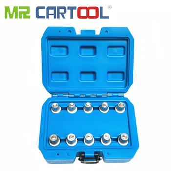 MR CARTOOL 10 sztuk rękawem przed kradzieżą śruba klucz narzędzie do usuwania opon dla BMW x1 x3 X4 x5 x6 serii śruba blokująca zestaw gniazd 30-40 tanie i dobre opinie Śruby zabezpieczające przed kradzieżą Rękawem MMZ54-1 Wheel Locking Lug Nut Key Set Household Tool Set China 0 8kg