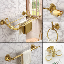 Luxury Bathroom Hardware Pendant European Classical Brass Go