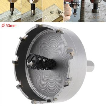 цена на 53MM Drill Bit Carbide Cutter Head HSS Drill Set Hole for Stainless Steel Metal Alloy Cutter  High Speed Steel Hole Opener