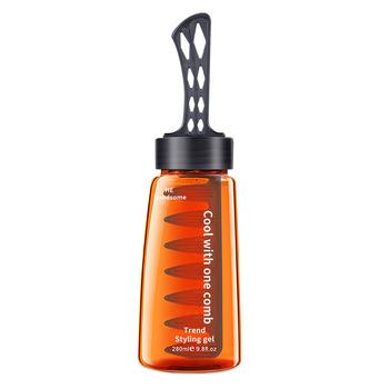 2-in-1 mężczyźni s oleista głowa żel do stylizacji włosów z grzebień do włosów krem do stylizacji #8222 dwa w jednym #8221 krem krem do włosów oleju grzebień do włosów z powrotem do stylizacji włosów tanie i dobre opinie CN (pochodzenie) Men s oil Head Styling Gel Pomady i woski 280ml 100 pure Argan Oil And vitamin E