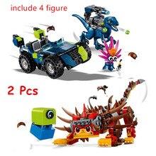 Rex treme offroader ultrakatty guerreiro lucy blocos de construção kit tijolos filme clássico 2 modelo crianças brinquedos para presente das crianças