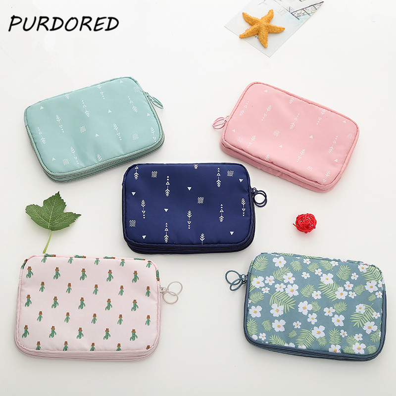 PURDORED 1 Pc Cactus Passpost Cover Women Cartoon Electronic Digital Package Bag Travel ID Card Holder Travel Accessories