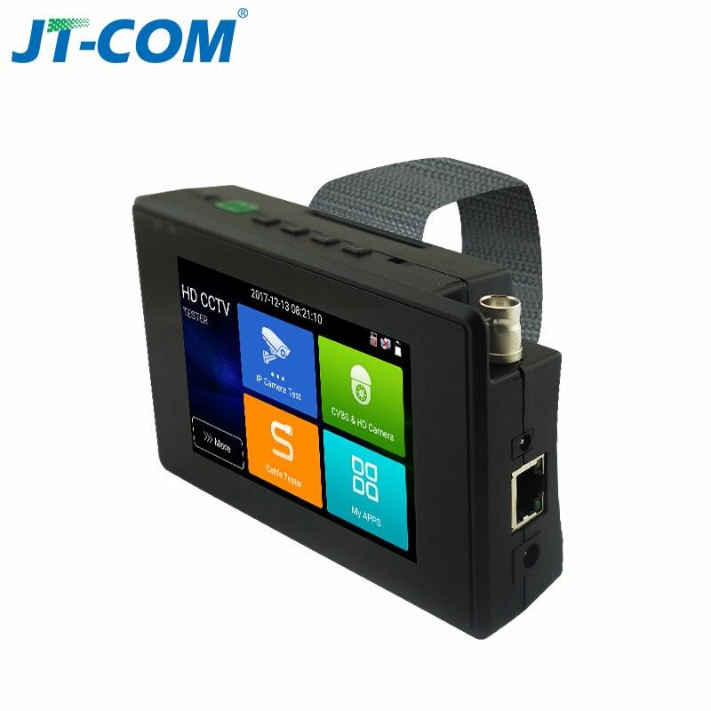 4 Inch 4K H265 H264 IP Camera Tester 8MP AHD/TVI / CVI CVBS CCTV Tester Monitor PTZ Controller Rapid ONVIF IPC Tester POE