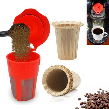 For Keurig 100PCS Disposable Paper Filters Cups K-Cup 2.0 Fit Reusable K Cups Filters capsule image