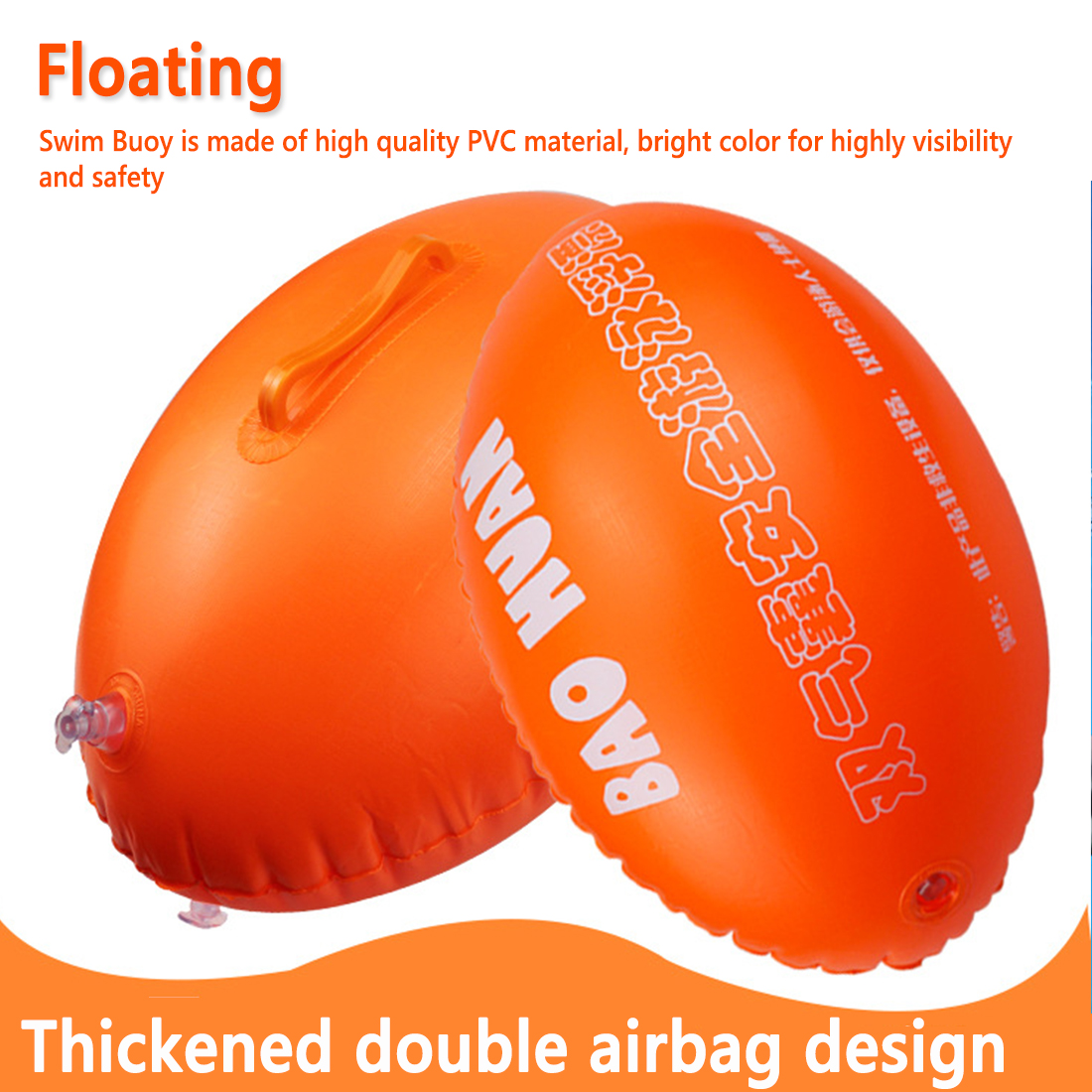 Swim Buoy Float Swimming Bubble Safety Float With Adjustable Waist Belt For Open Water Swimming Safe