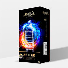 Hyaluronic Acid Cock Condom Ice Fire Dotted Natural Latex Rubber Intimate Goods Sex Products 10PCS