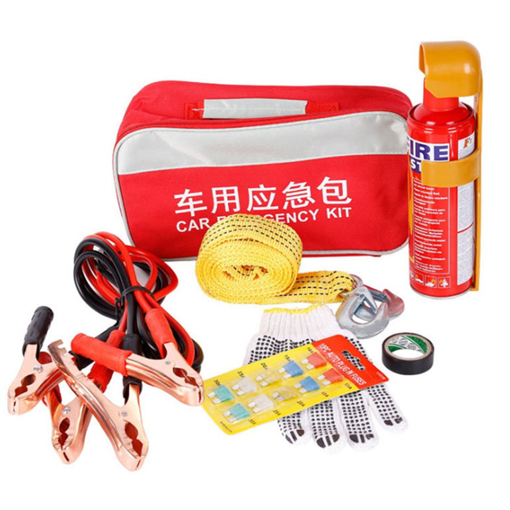 Zhw037 Car Fire Extinguisher Car Rescue Bag Small Portable Car Set Tool Kit Folding Design Safety Durable