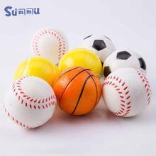 Мягкая пена футбол баскетбол игрушки губка анти-стресс шарики Выжимкы для детей, дети, снятия стресса креативные игрушки