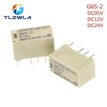 5 pces omron G6S-2 dc5v/12v/24v montagem do pwb 2-polo 8pin mini relé do interruptor de sinal