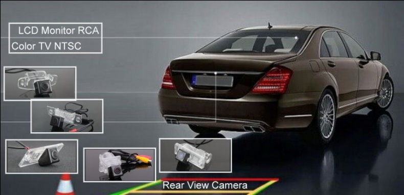 Car Rear View Back Up Reverse Parking Camera HD CCD Night Vision+high quality CCD