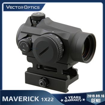 Wektor optyka Maverick GenII 1 #215 22 czerwona kropka zakres Sight polowanie taktyczne bez ograniczeń wieżyczka QD góra dla prawdziwej broni palnej 308 Airsoft tanie i dobre opinie Vector Optics Karabin CN (pochodzenie) SCRD-12II