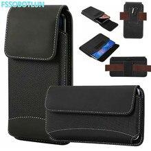 FSSOBOTLUN For Samsung S10 S10e A10 A50 M20 M10 M30 A8s A9S A9 Pro 2019 Hook Loop Holster Pouch nylon Belt Waist Bag Cover Case