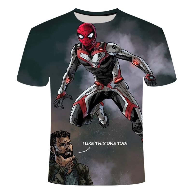 Новинка, футболка Marvel Avengers 4 final, футболка с 3d принтом супергероя Америки, футболка для косплея, Мужская Новая летняя модная футболка - Цвет: TX107