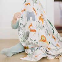 Cobertores do bebê algodão recém-nascidos fotografia acessórios capa de carrinho de bebê padrão dos desenhos animados envoltório tapete de jogo do bebê musselina swaddle cobertor