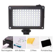 96 LED Video Light Pocket Mini Led Light with 2500mAh Battery and Magnet Filters for Sony Panasonic Canon Nikon DSLR Camcorder mcoplus 130 led video light with 1 x np f750 battery for canon nikon sony pentax panasonic samsung olympus