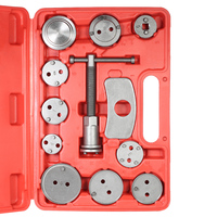 12pcs Auto Universal Disc Brake Caliper Automobile Garage Repair Tool Kit Set Car Wind Back Pad Piston Compressor with Case