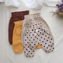 Spring Autumn Newborn Baby Pants For Boys Girls Clothing Pp Pants Baby Soft Cotton Linen Trousers Toddler Costume