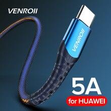 Кабель usb type C 5A Supercharge для huawei mate 20 P30 P20 Pro, шнур для быстрой зарядки телефона для Honor 20 10 V10 USBC, кабель для передачи данных
