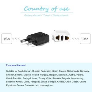 Image 5 - EU Euro US Plug Adapter US China to EU European Travel Adapter Electric EU Plug Adapter Converter Power Sockets AC Outlet