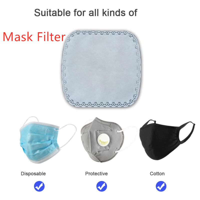 10pcs Cotton PM2.5 Mask Filter Cartridge Reusable Mouth Mask Anti Dust Fog Mask Windproof Mouth-muffle Face Masks Care Washable