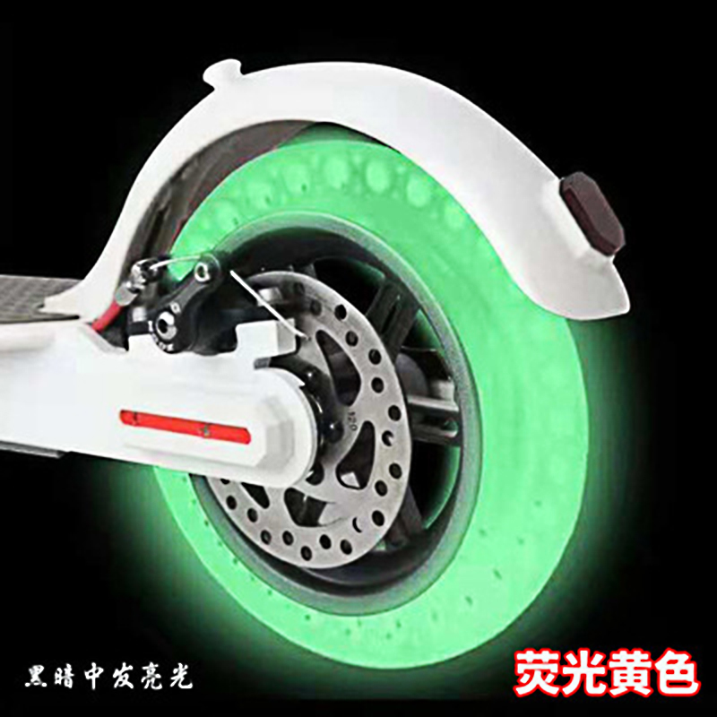 Night Fluorescent Tires 8.5 Inch Tyres For Xiaomi Mijia M365 Electric Scooter Luminous Shock Absorber Skateboard Solid Wheels