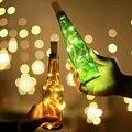 СВЕТОДИОДНАЯ Гирлянда для праздника, сказочные огни для винных бутылок с пробкой, гирлянда из медной проволоки для нового года вечерние НКИ...