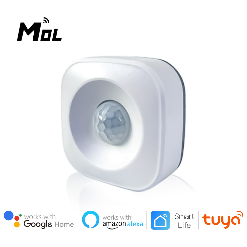 MOL Tuya WiFi PIR Motion Sensor Detector WIFI Movement Sensor Smart Life APP Wireless Home Security System