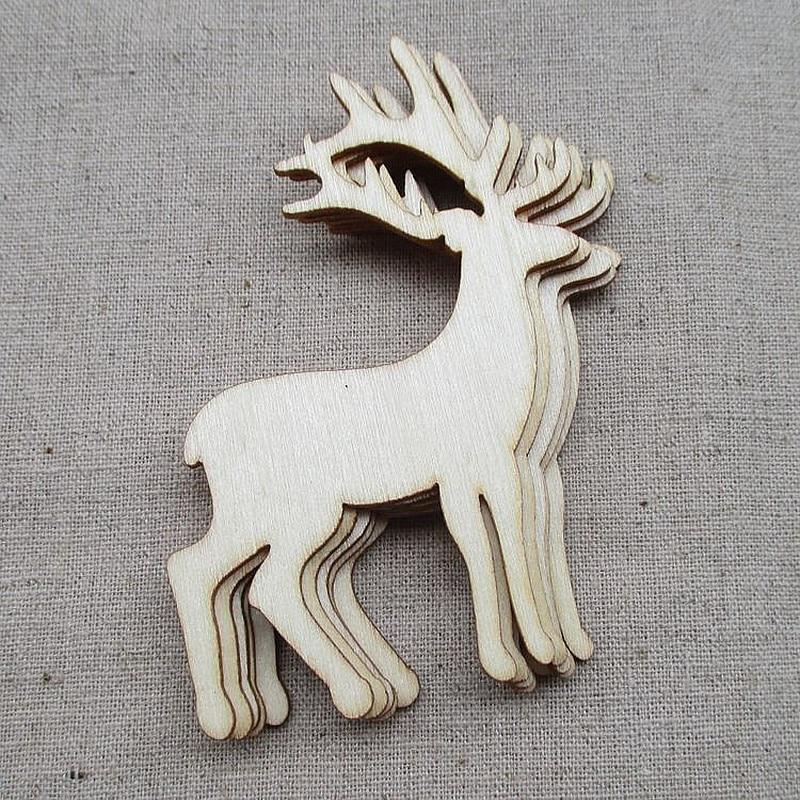 5 шт. олень вырезанные виниры Ломтики Для Patchwork ворка DIY украшения рождественское деревянное ремесло украшения игрушки для рождественской елки|Кулоны и подвески|   | АлиЭкспресс