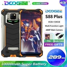 Doogee s88 além de telefone móvel áspero 10000mah super bateria 4 + 128gb 48mp câmera principal android 10 ip68/ip69k versão global telefone
