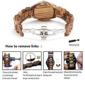 Image 4 - Shifenmei S5563 femme montres montre de mode 2019 bois décontracté pour femmes dames montre à Quartz bracelet en bois complet