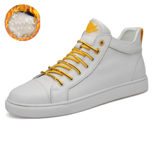 High Top Men Leather Sneakers White Mens Shoes Zapatos Hombr
