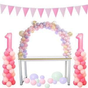 Image 1 - Cyuan בלון קשת זרי ערכות פלסטיק טור Stand תיבת בלון לטקס Ballons שרשרת קליפים עבור יום הולדת מסיבת חתונת דקור