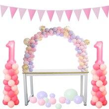 Cyuanバルーンアーチ花輪キットプラスチック列スタンドバルーンボックスラテックス風船チェーンクリップ誕生日ウェディングパーティーの装飾
