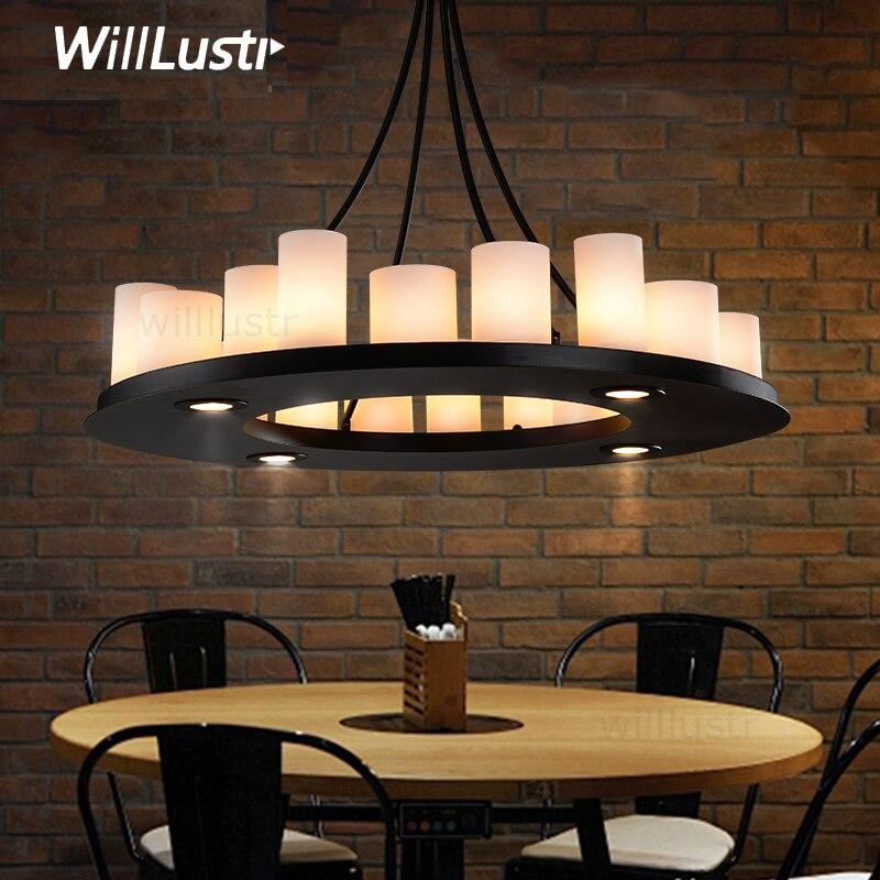 Replika Kevin Reilly Hemel matematyka wisiorek obrączka lampa świeca wisząca lampa restauracja LED białe szkło zawieszenie świece żyrandol