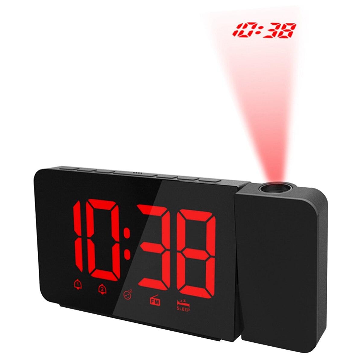 2 couleurs Radio numérique LED Projection réveil numérique avec variateur Radio FM réveil fonction Snooze