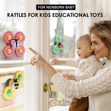 Sonajeros para ducha para niños, juguetes sensoriales de tacto Montessori para recién nacidos de 0 a 12 meses