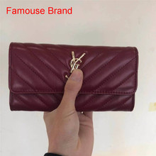 2021 Womens Wallets and Purses Leather Fashion Long Money bolso Bag Luxury Phone Wallet Luxury Design Hasp Purse