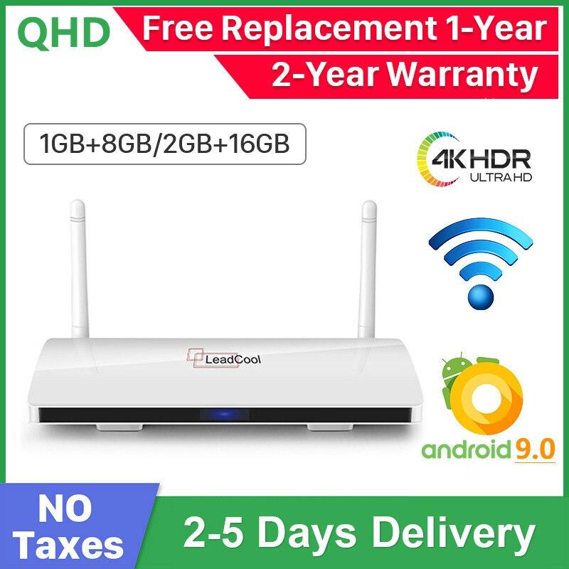 Leadcool QHDTV Android 9.0 Smart TV Box 4K H.265 Media Player Amlogic S905W Quad Core 2.4G Wifi QHD TV Box Leadcool Set top Box