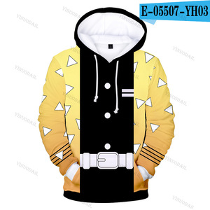 Image 4 - 악마 슬레이어 3D 후드 새로운 스타일 패션 후드 남자 Kimetsu 아니 Yaiba 애니메이션 Streetwear 옷